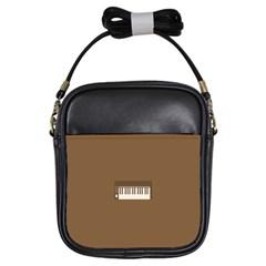 Keyboard Brown Girls Sling Bags