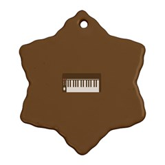 Keyboard Brown Snowflake Ornament (Two Sides)