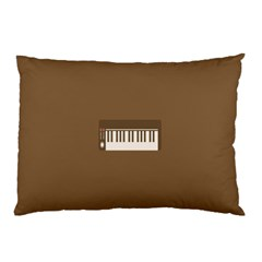 Keyboard Brown Pillow Case (Two Sides)