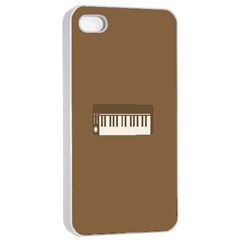 Keyboard Brown Apple iPhone 4/4s Seamless Case (White)