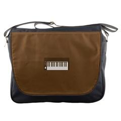 Keyboard Brown Messenger Bags