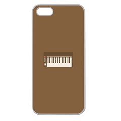 Keyboard Brown Apple Seamless iPhone 5 Case (Clear)
