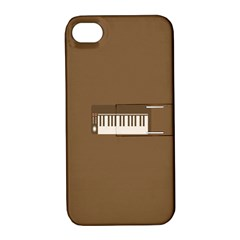 Keyboard Brown Apple iPhone 4/4S Hardshell Case with Stand