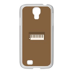 Keyboard Brown Samsung GALAXY S4 I9500/ I9505 Case (White)