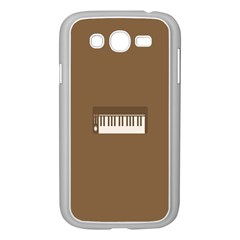 Keyboard Brown Samsung Galaxy Grand DUOS I9082 Case (White)