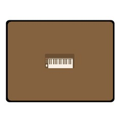 Keyboard Brown Double Sided Fleece Blanket (Small)