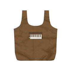 Keyboard Brown Full Print Recycle Bags (S)
