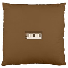 Keyboard Brown Large Flano Cushion Case (Two Sides)