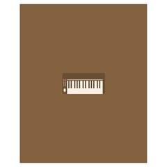 Keyboard Brown Drawstring Bag (Small)