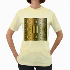 Gold Silver Carpet Women s Yellow T-Shirt