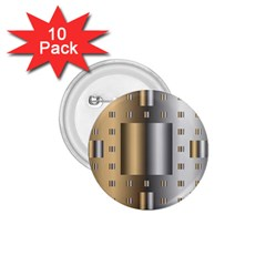 Gold Silver Carpet 1.75  Buttons (10 pack)