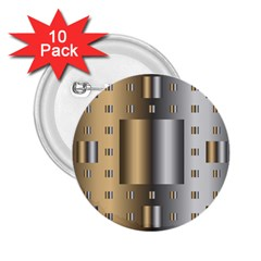 Gold Silver Carpet 2.25  Buttons (10 pack)