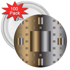 Gold Silver Carpet 3  Buttons (100 pack)
