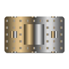 Gold Silver Carpet Magnet (Rectangular)