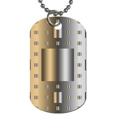 Gold Silver Carpet Dog Tag (One Side)