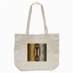 Gold Silver Carpet Tote Bag (Cream)