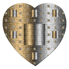 Gold Silver Carpet Jigsaw Puzzle (Heart)