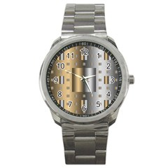 Gold Silver Carpet Sport Metal Watch