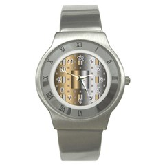 Gold Silver Carpet Stainless Steel Watch