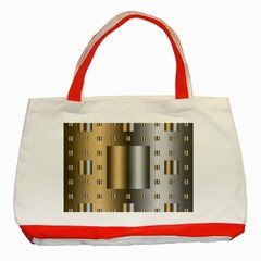 Gold Silver Carpet Classic Tote Bag (Red)