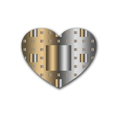 Gold Silver Carpet Heart Coaster (4 pack)