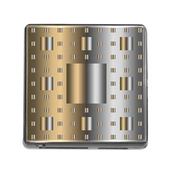 Gold Silver Carpet Memory Card Reader (Square)