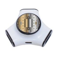 Gold Silver Carpet 3-Port USB Hub