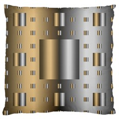 Gold Silver Carpet Large Cushion Case (Two Sides)