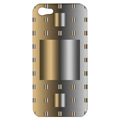 Gold Silver Carpet Apple iPhone 5 Hardshell Case