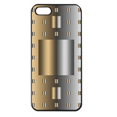 Gold Silver Carpet Apple iPhone 5 Seamless Case (Black)