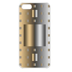 Gold Silver Carpet Apple iPhone 5 Seamless Case (White)