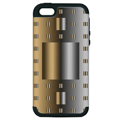Gold Silver Carpet Apple iPhone 5 Hardshell Case (PC+Silicone)