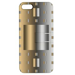 Gold Silver Carpet Apple iPhone 5 Hardshell Case with Stand
