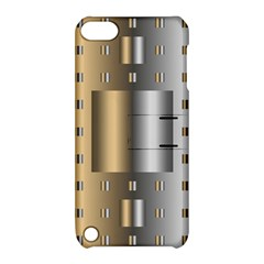 Gold Silver Carpet Apple iPod Touch 5 Hardshell Case with Stand