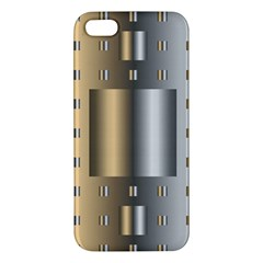 Gold Silver Carpet iPhone 5S/ SE Premium Hardshell Case