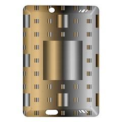 Gold Silver Carpet Amazon Kindle Fire HD (2013) Hardshell Case