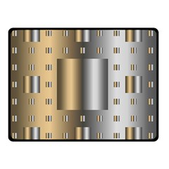 Gold Silver Carpet Double Sided Fleece Blanket (Small)