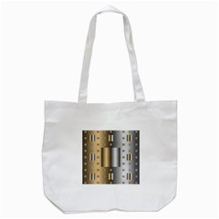Gold Silver Carpet Tote Bag (White)