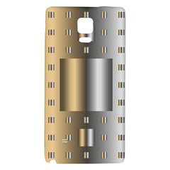 Gold Silver Carpet Galaxy Note 4 Back Case