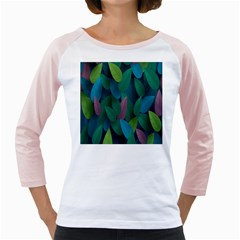 Leaf Rainbow Girly Raglans
