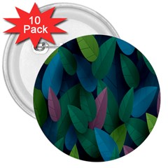 Leaf Rainbow 3  Buttons (10 pack)