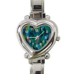 Leaf Rainbow Heart Italian Charm Watch