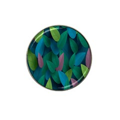 Leaf Rainbow Hat Clip Ball Marker (4 pack)