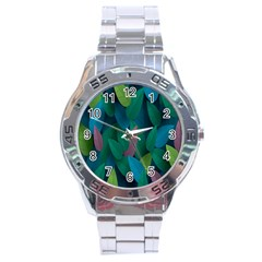 Leaf Rainbow Stainless Steel Analogue Watch