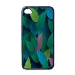 Leaf Rainbow Apple iPhone 4 Case (Black)