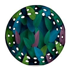 Leaf Rainbow Ornament (Round Filigree)