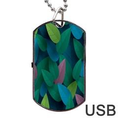 Leaf Rainbow Dog Tag USB Flash (One Side)