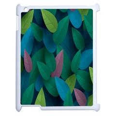 Leaf Rainbow Apple iPad 2 Case (White)