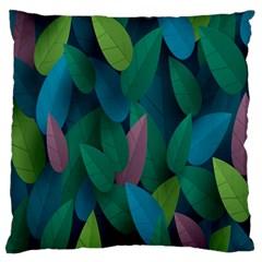 Leaf Rainbow Large Flano Cushion Case (One Side)