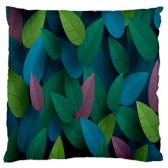 Leaf Rainbow Large Flano Cushion Case (Two Sides)